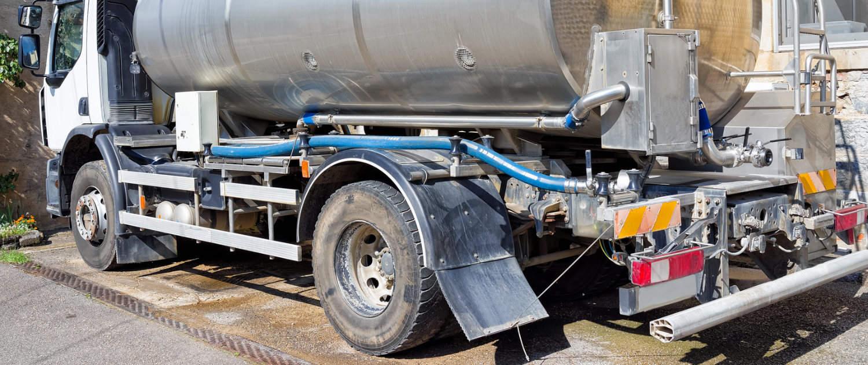Verstärkte Stoßdämpfer von Marquart für Milchtransporter