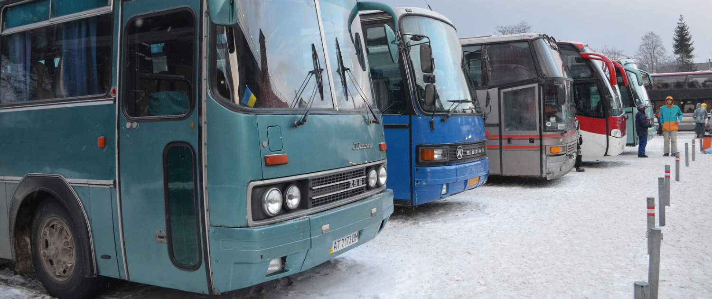 Verstärkte Stoßdämpfer von Marquart für historische Busse