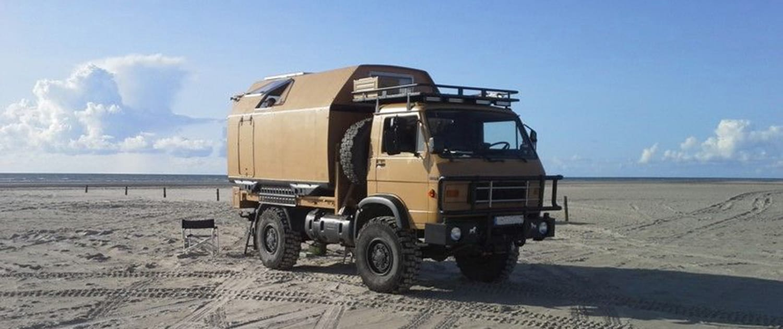 MAN G90 mit verstärkten Stoßdämpfern von Marquart
