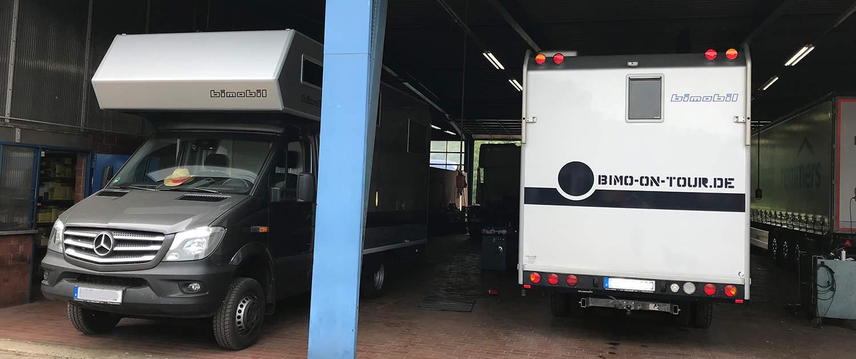Fahrwerktuning für Wohnmobile mit verstärkten Stoßdämpfern von Marquart