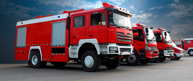 Verstärkte Stoßdämpfer für Feuerwehren