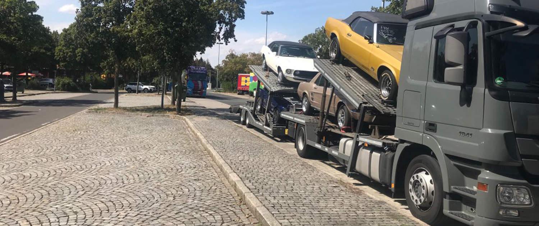 Verstärkte Stoßdämpfer für Autotransporter